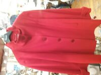 Women Winter WOOL Overcoat Coat Ladies Collar Red by Busy 16
