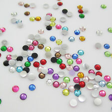 New Hot 400pcs 6mm Charm Facets Resin Crystal beads Rhinestone FlatBack Mix#2