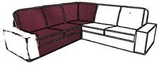 BEZUG Ikea KIVIK Ecksofa rotlila *  Sofa Cover.Corner Section Dansbo Red Lilac