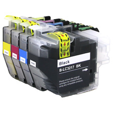 4 Compatible Ink Cartridges For Brother LC3217BK LC-3217C LC3217M LC3217Y NONOEM