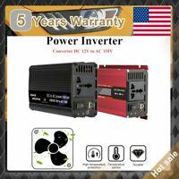 Power Inverter 6000W Peak DC 12V to 110V AC Converter Adapter Charger Car USB