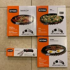 NEW STOK GRILLING 4-ITEMS PACKAGE (griddle, vegetable tray, wok, removal tool)