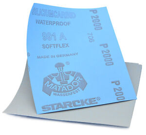 Sandpaper Wet Dry 5x Sheets 2000 Grit Furniture Finishing Metal Polishing. 038