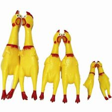 Screaming Chicken Funny Cartoon Rubber Big Dog Puppy Interactive Chewing Dog Toy