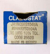 CLAROSTAT JAIN056S104UA 10 MEG OHM 10% Tol Potentiometer RV4NAYSD104A Code 25526