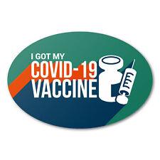 3 X 2 Oval I Got My Vaccine Stickers Aqua 6000 Labels Total