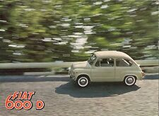Fiat 600 D 1960-62 UK Market Sales Brochure Saloon Convertible Multipla