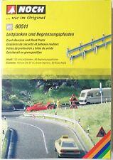 NOCH 60511 H0, Leitplanken + Begrenzungspfosten, 100 cm lang und 60 Pfoste, Neu