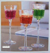 """PartyLite """"Clear Lines"""" Stemmed Trio, New"""