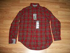 Eddie Bauer Bristol Men's Flannel Shirt  Red Plaid Small NWT $59