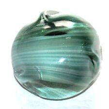 1 bouton ancien en pâte de verre verte marbré 22mm button