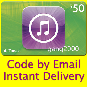 $50 APPLE US iTunes GIFT CARD voucher USD Email Code (USA App Store Key Karte)