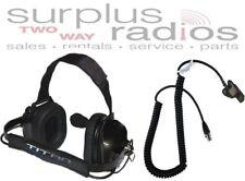 Titan Dual Muff High Noise Racing Headset Motorola Radio Ht1000 Xts3000 Xts5000