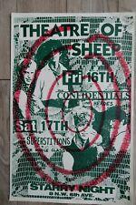 "Original 1983 Theatre of Sheep / Punk Rock Portland Or. 17"" X 11"" Poster"
