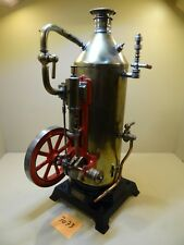Stehende Dampfmaschine EP Ernst Plank 160/5 Cosmos Restauriert / Von 1910