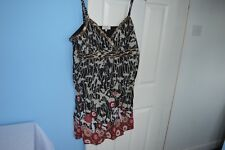 STUNNING WOMAN'S DEBENHAMS BLACK MIX DRESS SIZE UK 20  EUR 48