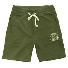 Pantalones Cortos Hombre Deporte Algodón Jersey Bermudas Azul Verde y Gris