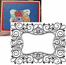 Darice Embossing Folders - Scroll Frame folder 1215-49 Cuttlebug Compatible