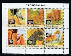 GUINEA-BISSAU Dinosaurs MNH sheetlet