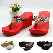 NEW Women Summer Casual Platform Thong Flip Flops Sandals Shoes Beach Slippers