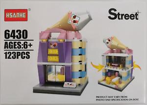 Mini Street View Building Block Toy Ice Cream Shop - 123pcs