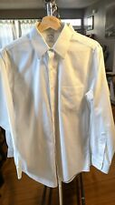 Brooks Brothers Slim Fit Mens Button No Iron Dress Shirt White Pre Owned 15-33