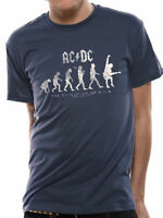 OFFICIAL AC/DC Evolution Of Rock T-shirt Blue Sizes S to XXL Angus Young NEW
