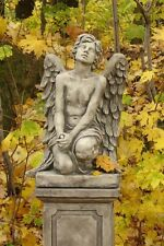 "Garten Figur Skulptur Engeljunge ""Barbiel"" Pheeberts by Fiona Scott Steinguss"