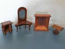 Dollhouse Miniature Furniture - Mirror and 3 other pieces