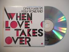 DAVID GUETTA feat KELLY ROWLAND : WHEN LOVE TAKES OVE ♦ CD SINGLE PORT GRATUIT ♦