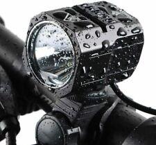 Nestling USB Rechargeable LED Bike Light Set, 1200 Lumen Bicycle Black