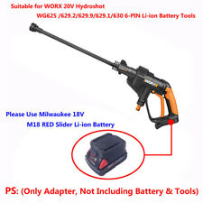 Milwaukee M18 18V Slider Li-ion Battery to WORX 20V 6-PIN CLEANER-TOOLS Adapter