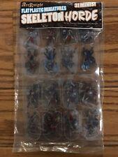 Flat Plastic Miniatures: Skeletons Horde
