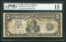 """FR. 280m 1899 $5 FIVE DOLLARS """"CHIEF"""" SILVER CERTIFICATE PMG CHOICE FINE-15 (B)"""
