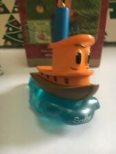 Scuffy The Tugboat With Little Golden Book Hallmark Keepsake Ornament In Box