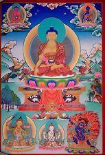 Tibetan Thangka Poster for Dharma Practice SHAKYAMUNI BUDDHA