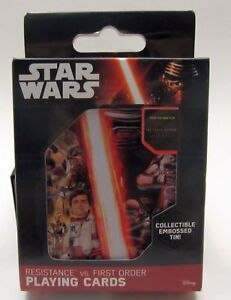Star Wars Resistance vs. First Order Playing Cards by Cartamundi - Embossed Tin