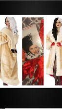 Evil CRUELLA DEVILLE Costume COAT Cigarette Holder 101 Dalmatians WIG GLOVES