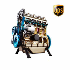 Metal Assembled Four-cylinder Inline Gasoline Engine Model KIT Birthday Gift