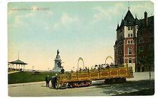 Quebec City Quebec QC -OBSERVATION TROLLEY CAR-Postcard Canada