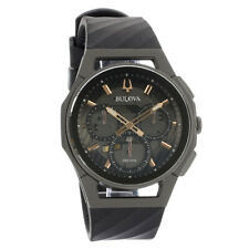 Bulova Curv Mens Chronograph Black Dial Quartz Watch 98A162