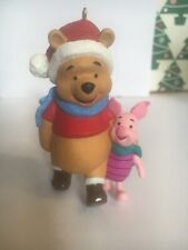 Christmas Disney Hallmark Keepsake Winnie Pooh & Piglet  Ornament NIB