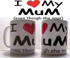 Personalised Printed Mug - I Love My MUM - Mother's Day Gift - Name can be added