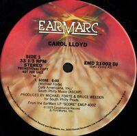 """CAROL LLOYD score EMD 21002 DJ promo usa earmarc 1979 12"""" WS VG/"""