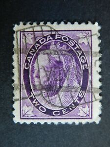 """#68  used NG  w. paper adhesion  2cQueen Victoria """"Maple Leaf"""" issue"""