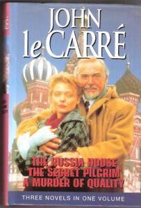 "John Le Carre Omnibus: ""Russia House"", ""Secret Pilgrim"", ""Murder of Quality"",Jo"