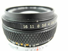 OLYMPUS OM SERIES 50/1.8 AUTO-S ZUIKO LENS PERFECT GLASS SMOOTH FOCUS AND APERTU