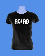 Girlie Damen Shirt Mädchen AC/AB Polizei Streetfight Hool move2be schwarz XS-L