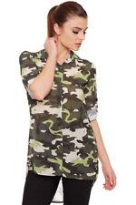 Magliette da donna in poliestere verde