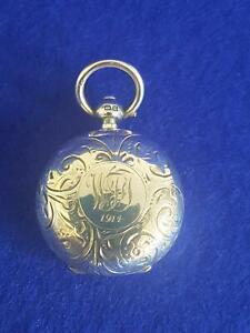 Elegant Pre WWI Era B'ham 1911 A L Dennison Sterling Silver Sovereign Case 19g